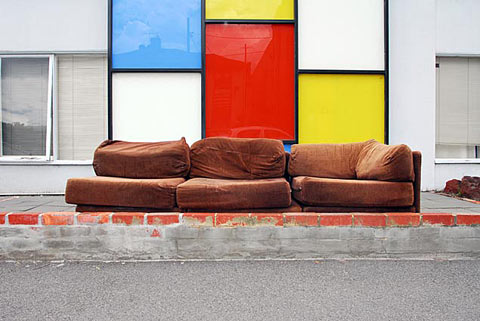 Paul Batt abandoned sofa