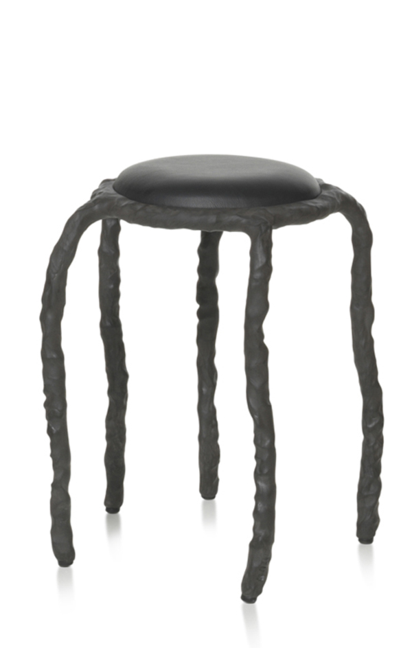 Plain Clay Stool by Maarten Baas Black
