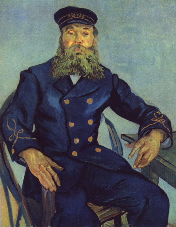 Postman on a chair by Vincent van Gogh
