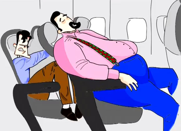 Reclining Airline seat horror