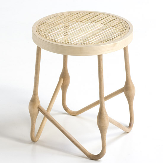 Welding Wood Stool by Culdesac